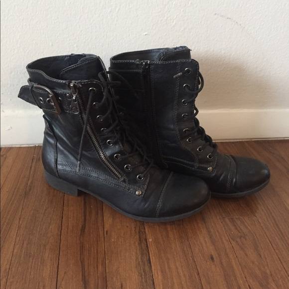 b33e14541 G by Guess Shoes | Womens 8 12 Black Combat Boots | Poshmark